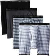 Hanes Men's 4-Pack No Ride Up Striped Boxer Briefs (Plus Size)
