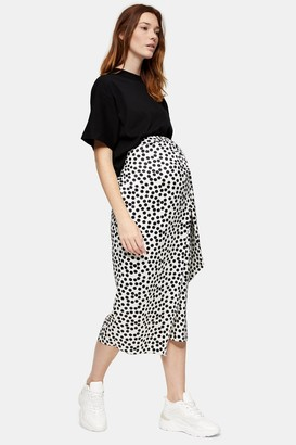 Topshop Womens **Maternity Black And White Spot Print Sarong - Monochrome