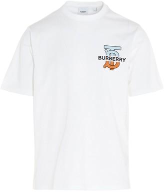 Burberry Monogram Logo Oversized T-Shirt