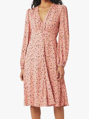 Ghost Estelle Ditsy Floral Dress, Panella Red