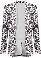 Joie Mehira Leopard-Print Linen Blazer