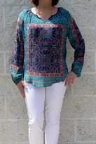 Tolani Paisley Silk Blouse