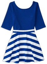 Ralph Lauren Girls' Ponte Color-Block Top and Skirt Set - Sizes 2-6X