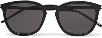 Saint Laurent Square-Frame Acetate And Silver-Tone Sunglasses