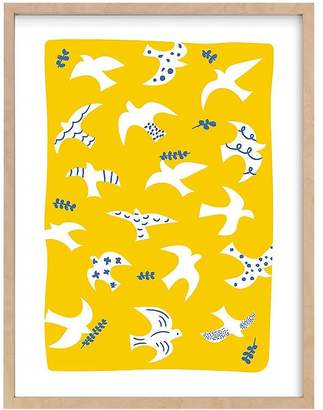 Pottery Barn Kids west elm x pbk Taking Flight Wall Art by Minted®, White, 11x14