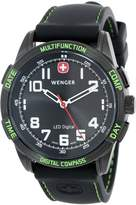 Wenger Men's 70433 Nomad Compass Green LED Silicone Strap Watch