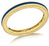 Luis Morais 10 ct Yellow Gold Turquoise Enamel Thin Ring - Size L