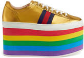 Gucci Leather low-top platform sneaker