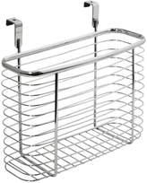 InterDesign Axis Over the Cabinet Kitchen Storage Organizer Basket for Aluminum Foil, Sandwich Bags, Cleaning Supplies - Medium