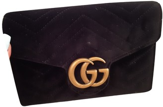 Gucci Marmont Black Suede Clutch bags