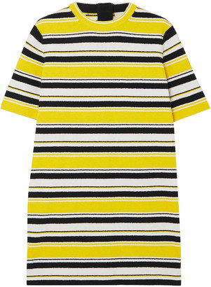Marc Jacobs Striped Cotton-blend Terry Mini Dress
