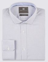 Marks and Spencer Pure Cotton Puppy Tooth Check Easy to Iron Shirt