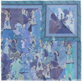 Salvatore Ferragamo Havana Party print scarf
