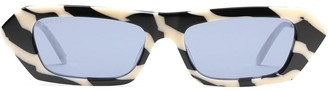 Gucci Crystal-Embellished Rectangular-Frame Sunglasses