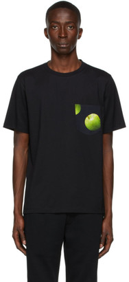 Paul Smith 50th Anniversary Black and Green Gents Apple Pocket T-Shirt