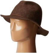 Scala Crushable and Packable Safari Hat with Raw Edge