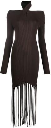 Bottega Veneta Fringed Knitted Dress