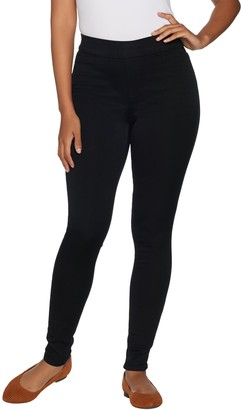 Denim & Co. Distressed Pull-On Stretch Denim Leggings