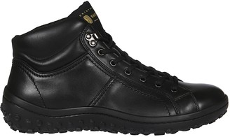 Car Shoe Laced-up Hi-top Sneakers