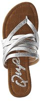 Charlotte Russe Qupid Metallic Faux Leather Strappy Sandals