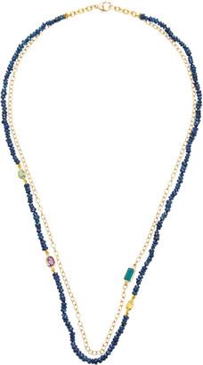 Objet A Objet-a Layered 18K Gold, Sapphire And Tourmaline Necklace