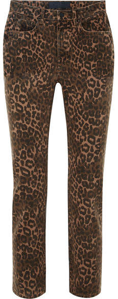 Alexander Wang Leopard-print Mid-rise Skinny Jeans - Leopard print