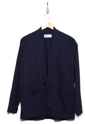 Universal Works Tie Front Jacket Denim Indigo 22671 - L