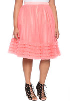 ELOQUII Plus Size Layered Tulle Skirt