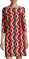 Taylor Printed Ponte Shift Dress