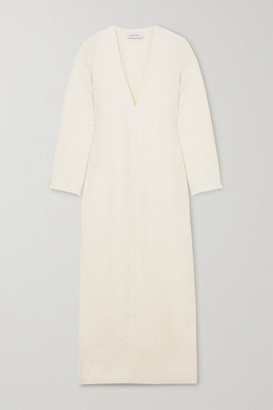 Matteau Frayed Linen Maxi Dress - Ivory