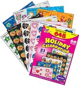Trend Enterprises Inc. T-63903 Sparkle Stickers Holiday Celebra.