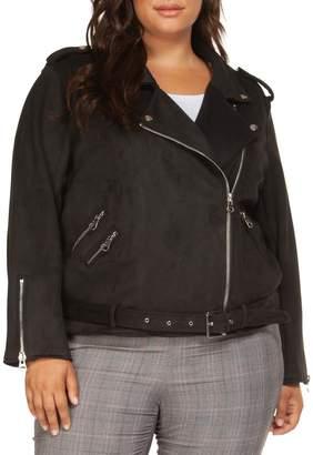 Dex Plus Belted Moto Jacket