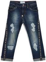 Philipp Plein Distressed Logo Jeans
