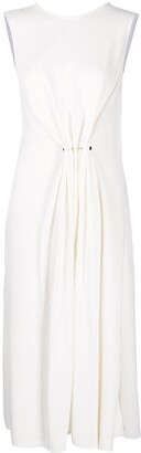 Victoria Beckham Gathered Sleeveless Midi Dress