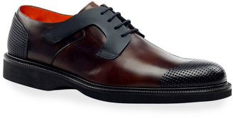 Ike Behar Men's Nova Bold Design Perforated Derby Shoes