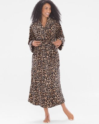 Soma Intimates Luxe Long Robe Exotic Animal Light Nude