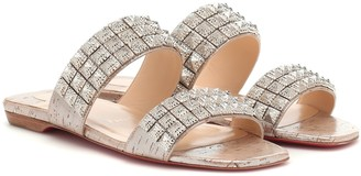 Christian Louboutin Myriadiam Flat embellished sandals