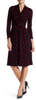 Adrianna Papell 3/4 Length Sleeve Printed Dress (Petite)
