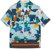 Valentino - Camp-collar Printed Cotton Shirt