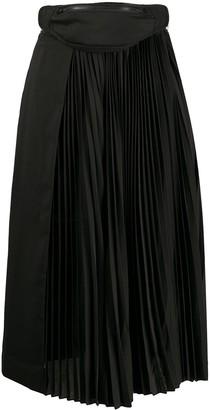 Juun.J Belt Bag Pleated Skirt