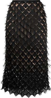 PASKAL clothes Laser-Cut Midi Skirt
