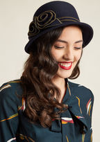 ModCloth Presenting as Posh Wool Cloche Hat