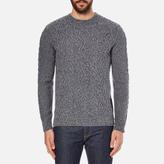 Barbour Heritage Men's Barnard Cable Knitted Jumper Denim Mix