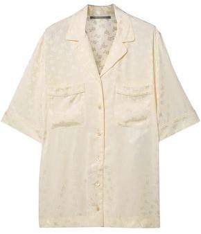 Stella McCartney Floral Satin-jacquard Shirt