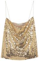 Alice + Olivia Harmon Gold Sequinned Tank