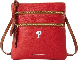 Dooney & Bourke MLB Phillies N S Triple Zip Crossbody