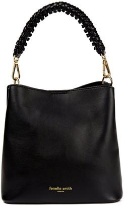 Fenella Smith Vegan Leather Mimi Bucket Bag - Black