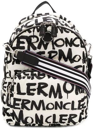 Moncler All Over Logo Backpack