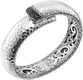 John Hardy Wide Lava Sterling Silver Kick Cuff with Black Sapphires