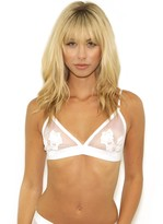For Love & Lemons Skivvies Bardot Bralette in Ivory
